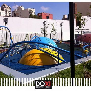Construccion de la Plaza Pepe Biondi